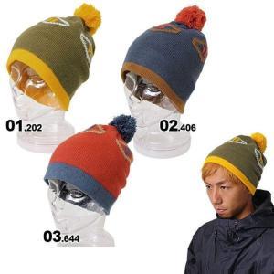 BURTON/バートン メンズ ポンポン付き シングルニット帽子 FRANK BEANIE ビーニーキャップ ニットキャップ 柄 スキーやスノーボードの防寒に 10448101|ocstyle