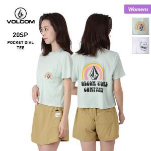 VOLCOM/ボルコム レディース 半袖 Tシャツ ティーシャツ はんそで UVカット ロゴ ホワイト 白 B3512000|OC STYLE PayPayモール店