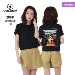 VOLCOM/ボルコム レディース 半袖 Tシャツ ティーシャツ はんそで UVカット ロゴ ブラック 黒 B3512005|OC STYLE PayPayモール店