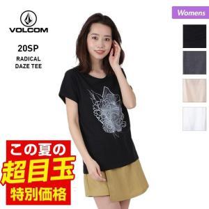 VOLCOM/ボルコム レディース 半袖 Tシャツ ティーシャツ はんそで UVカット ロゴ ブラック 黒 ホワイト 白 B3512050|OC STYLE PayPayモール店