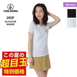 VOLCOM/ボルコム レディース 半袖 Tシャツ ティーシャツ はんそで UVカット ロゴ ブラック 黒 ホワイト 白 B3522003|OC STYLE PayPayモール店