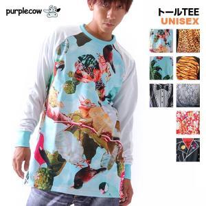 【PURPLECOW/パープルカウ】メンズ&レディース スノーボード用トールTシャツ{14_A5_T...