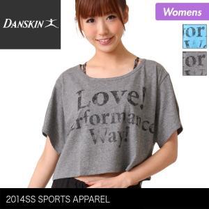 DANSKIN/ダンスキン レディース ワイド半袖Tシャツ ティーシャツ トップスダンスウェア フィットネスウェア スポーツウェア{DA74120}|ocstyle