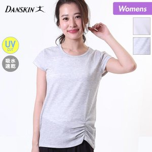 DANSKIN/ダンスキン レディース 半袖 フィットネス Tシャツ UVカット 紫外線カット 吸汗速乾 DY77207|ocstyle
