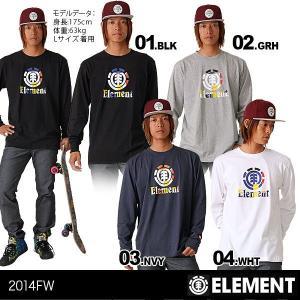 ELEMENT/エレメント メンズ 長袖Tシャツ ロングTシャツ ロンT ティーシャツ トップス 長T TEE 男性用 人気スケートボード ブランド スケボーブランド AE022-051|ocstyle