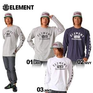 ELEMENT/エレメント メンズ 長袖Tシャツ ロングTシャツ ロンT ティーシャツ トップス 長T TEE 男性用 人気スケートボード ブランド スケボーブランド AE022-052|ocstyle