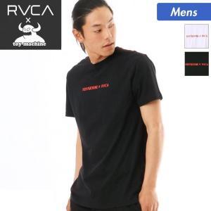 TOY MACHINE×RVCA/トイマシーン×ルーカ メンズ 半袖 Tシャツ ティーシャツ クルーネック コラボアイテム AI041-202|ocstyle