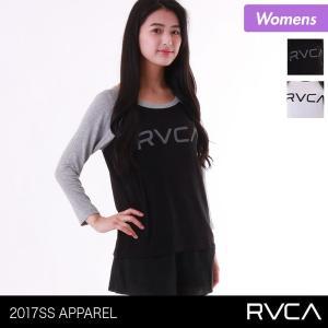 RVCA/ルーカ レディース 七分袖Tシャツ ティーシャツ クルーネック Uネック トップス 長袖 ロンT ロング AH043-306 ocstyle