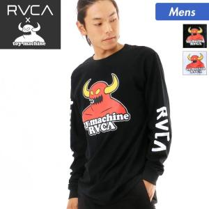 TOY MACHINE×RVCA/トイマシーン×ルーカ メンズ 長袖 ロング Tシャツ ティーシャツ ロンT ロンティー クルーネック コラボアイテム AI041-051|ocstyle