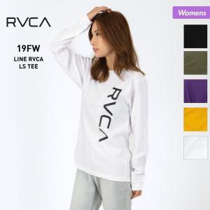 RVCA/ルーカ レディース ロングTシャツ 長袖 ティーシャツ ロンT トップス ビッグロゴ AJ044-053|OC STYLE PayPayモール店