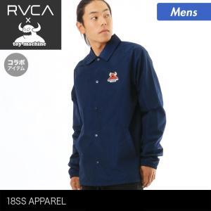 TOY MACHINE×RVCA/トイマシーン×ルーカ メンズ コーチジャケット 襟付きジャケット アウター AI041-750 ocstyle