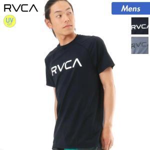 RVCA/ルーカ メンズ 半袖 ラッシュガード Tシャツタイプ ティーシャツ UVカット 速乾 紫外線対策 水着 みずぎ AI041-851|ocstyle