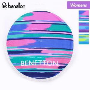 BENETTON/ベネトン レディース ラウンドタオル 丸型タオル ビーチラグ 円形 レジャーシート ビーチマット 227-188|ocstyle