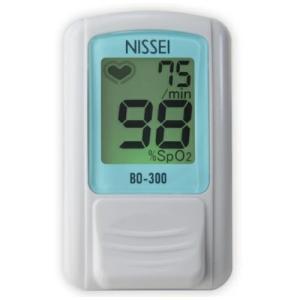NISSEI 日本精密測器 パルスオキシメーター 日本製 BO-300 ブルー 訪問介護 血中酸素濃度計の画像