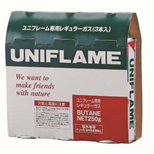 UNIFLAME ユニフレーム レギュラーガス 3本 650028 アウトドア 釣り 旅行用品 キャンプ 登山 レギュラー アウトドアギア|od-yamakei