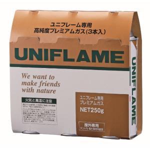 UNIFLAME ユニフレーム プレミアムガス 3本 650042 イソブタンとブタン アウトドア 釣り 旅行用品 キャンプ 登山 ウィンター アウトドアギア|od-yamakei