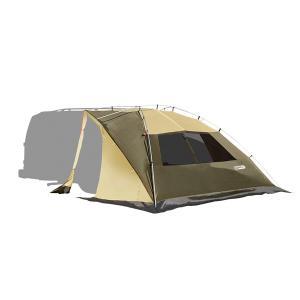 ogawa campal 小川キャンパル カーサイドリビングDX/ブラウン×サンド×レッド 80 2325 オールシーズンタイプ キャンプ大型シェルタータープ アウトドア od-yamakei