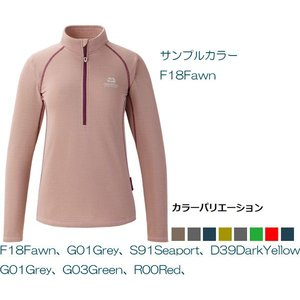 MOUNTAIN EQUIPMENT(マウンテン・イクィップメント) Ws Dry Perform LS Zip Tee/グレイ(G01)/S (422911)|od-yamakei