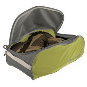 SEA TO SUMMIT シートゥーサミット シューズバッグ/ライム/グレー/L ST85027 グリーン 旅行用衣類圧縮袋 アウトドア 釣り 旅行用品 旅行用品 快適グッズ|od-yamakei