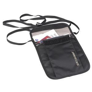 SEA TO SUMMIT シートゥーサミット ネックポーチ/ブラック/グレー ST85065 ブラック アウトドアポーチ アウトドア 釣り 旅行用品 キャンプ 小物バッグ|od-yamakei