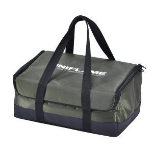 UNIFLAME ユニフレーム ユニセラBOX/カーキグリーン 615065 収納ケース アウトドア 釣り 旅行用品 キャンプ クッキング用品収納バッグ od-yamakei