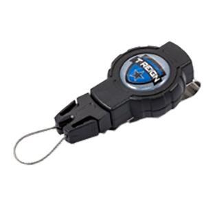 T-REIGN ティーレイン リトラクタークリップ/BK/SM TRG4120000 ブラック アウトドア 釣り 旅行用品 携帯電話ストラップ 携帯電話ストラップ|od-yamakei