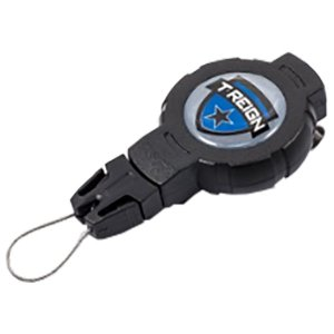 T-REIGN ティーレイン リトラクタークリップ/BK/MD TRG4220000 ブラック アウトドア 釣り 旅行用品 携帯電話ストラップ 携帯電話ストラップ|od-yamakei