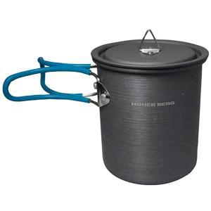 HOHER BERG ホッハーベルグ HBソロクッカーAL600 46165 ブラック アウトドア調理器具 アウトドア 釣り 旅行用品 キャンプ 単品クッカー アウトドアギア|od-yamakei