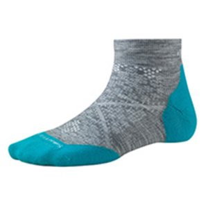 SmartWool スマートウール Ws PhDランライトエリートローカット/ライトグレー/S SW70509002004 女性用 ブルー クルーソックス ファッション 下着 靴下 od-yamakei