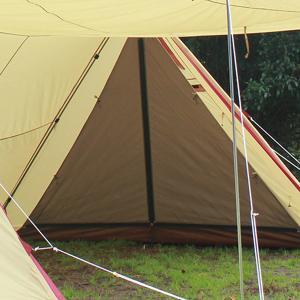 ogawa campal 小川キャンパル ツインピルツ フォーク ハーフインナー 3567 ブラウン アウトドア 釣り 旅行用品 キャンプ 登山 インナーテント od-yamakei