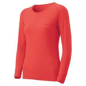 mont-bell(モンベル) 16 SPMW MW Rネックシャツ WS/COPK/XL 1107574 女性用 ピンク アウトドアウェア アンダーウェアトップス アウトドア 釣り 旅行用品|od-yamakei