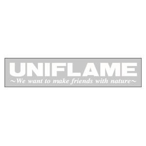 UNIFLAME ユニフレーム UFステッカー シルバー 690055 バイク デカール 車 自転車 アウトドアギア|od-yamakei