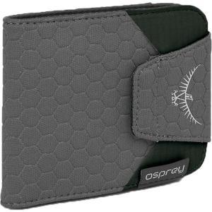 OSPREY オスプレー クイックロックウォレット/シャドーグレー/ワンサイズ OS58822 グレー 三つ折り財布 ファッション メンズファッション ポーチ|od-yamakei