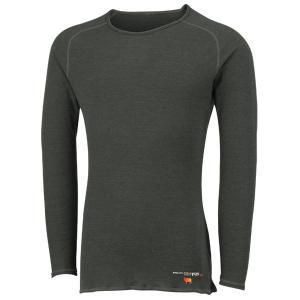 ONYONE オンヨネ メンズブレステック メリノPP ロングスリーブ(薄手)/009ブラック/S ODJ99500 男性用 グレー Tシャツ アンダーシャツ アウトドア 釣り|od-yamakei