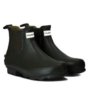 HUNTER(ハンター) メンズ ノリス フィールド チェルシーブーツ/ブラック/UK9 MFS9074RMA 男性用 ブラック レインブーツ ファッション レインシューズ|od-yamakei
