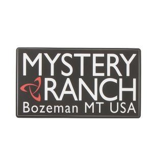 Mystery Ranch ミステリーランチ HritageLogoSticker/Brack/OneSize 19761240 ブラック バイク ステッカー デカール 車 自転車 アウトドアギア|od-yamakei