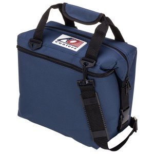 AO Coolers エーオークーラー 12 パック キャンバス ソフトクーラー/ネイビー AO12NB クーラーバッグ 保冷バッグ アウトドア 釣り 旅行用品|od-yamakei