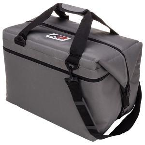 AO Coolers エーオークーラー 48 パック キャンバス ソフトクーラー/チャコール AO48CH グレー クーラーバッグ 保冷バッグ アウトドア 釣り 旅行用品|od-yamakei