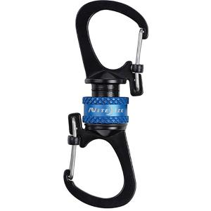 NITE-IZE ナイトアイズ 360°マグネットスライドロックカラビナー/ブルー MSBL-03-R7 キーホルダー キーリング ファッション メンズファッション|od-yamakei