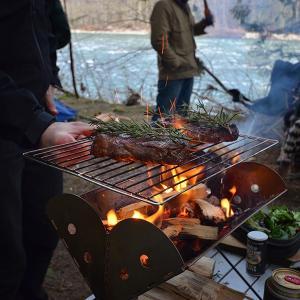 UCO ユーシーオー フラットパックポータブルグリル&ファイヤーピット ケース付 27175 バーベキューコンロ アウトドア 釣り 旅行用品 キャンプ od-yamakei 07