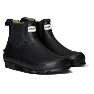 HUNTER(ハンター) メンズ ノリス フィールド チェルシーブーツ/ブラック/UK6 MFS9074RMA 男性用 ブラック レインブーツ ファッション レインシューズ|od-yamakei