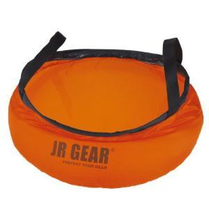 JR GEAR ジェイアールギア #WBS010 Foldable Washing Basin オレンジ WBS01031 ウォータージャグ アウトドア 釣り 旅行用品 キャンプ バケツ バケツ od-yamakei