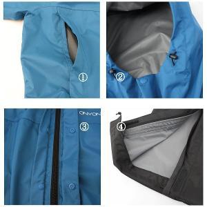 ONYONE オンヨネ メンズブレステック 2.5L レインスーツ/ブルー 713 /O ODS90025 男性用 ネイビー レインウエア ファッション メンズファッション 財布|od-yamakei|02