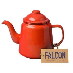 FALCON ファルコン ファルコン エナメルウェア ティーポット レッド 7FCTP ケトル アウ...