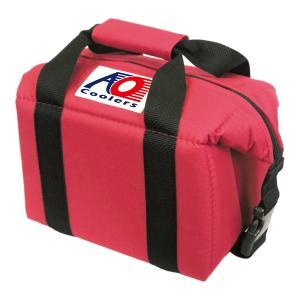 AO Coolers エーオークーラー 6パック キャンバス ソフトクーラー/レッド AO6RD クーラーバッグ 保冷バッグ アウトドア 釣り 旅行用品 5リットル|od-yamakei