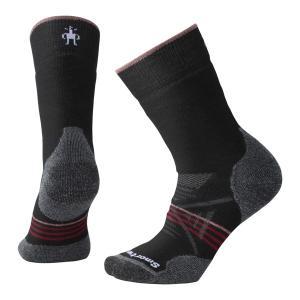 SmartWool スマートウール Ws PhDアウトドアミディアムクルー/ブラック/チベタンレッド/M SW71129008005 ブラック クルーソックス ファッション 下着 靴下 od-yamakei
