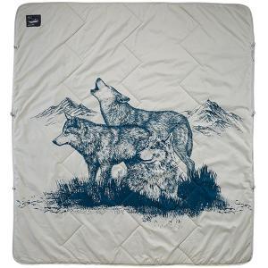 thermarest サーマレスト アルゴブランケット/ウルフプリント 30016 グレー 毛布 ブランケット アウトドア 釣り 旅行用品 アウトドアギア|od-yamakei