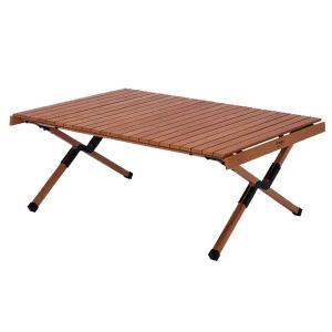 HangOut(ハングアウト) アペロウッドテーブル400 ブラウン APR-H400 BR アウトドアテーブル アウトドア 釣り 旅行用品 キャンプ ロールテーブル|od-yamakei