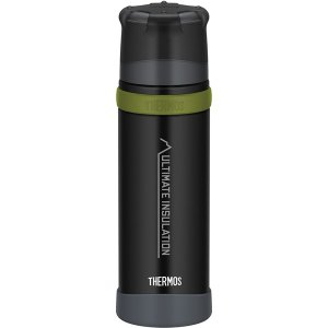 THERMOS サーモス 山専ステンレスボトル マットブラック MTBK 0.5L FFX-501 ...
