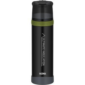 THERMOS サーモス 山専ステンレスボトル マットブラック MTBK 0.9L FFX-901 ...